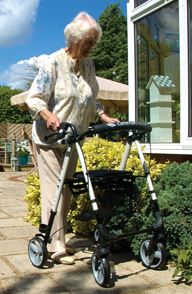 The Litewalk is extremely lightweight, easily foldable and ideal for indoor and outdoor use.  What's also important to mention is that the Litewalk is fully height adjustable, so not only are the handles adjustable the seating area itself is.