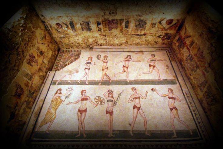 31  Stanza delle ragazze in bikini - Villa Romana del Casale - Piazza Armerina - Enna - Sicilia (foto di Giuseppe Di Vita)