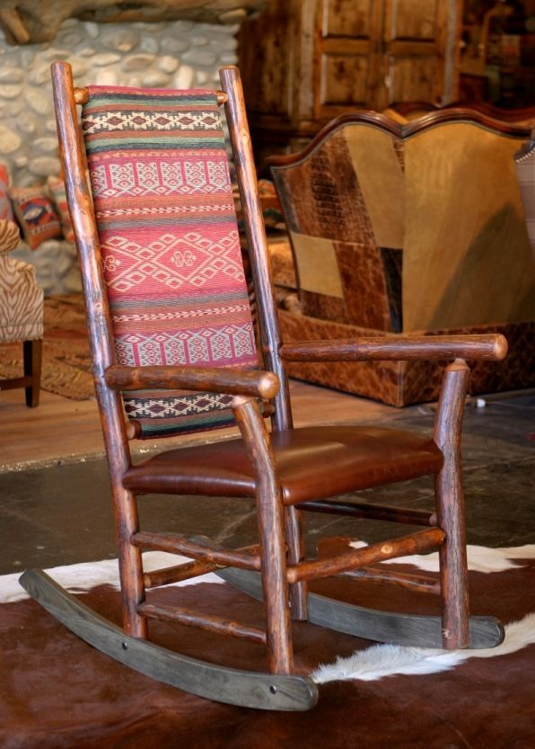 Old Hickory Rocking Chair|Rustic Rocking Chair|Western Rocking Chair|Anteks Home Furnishings