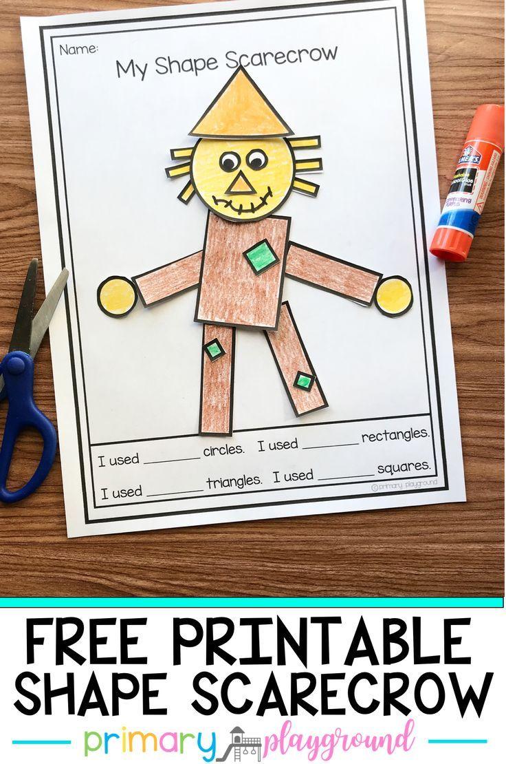Free Printable 2d Shape Scarecrow Primary Playground Fall Kindergarten Fall Preschool Activities Kindergarten Activities [ 1110 x 736 Pixel ]