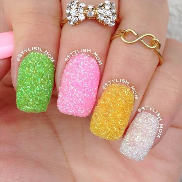 340 best Nails- Glitter, Sequins and Rhinestones Nails..Oh My images ...