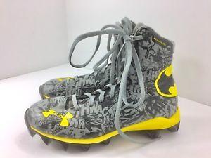 Under Armour Boys Batman Clutch Fit Football Cleats 1246277 048 Kids 2.5Y  | eBay