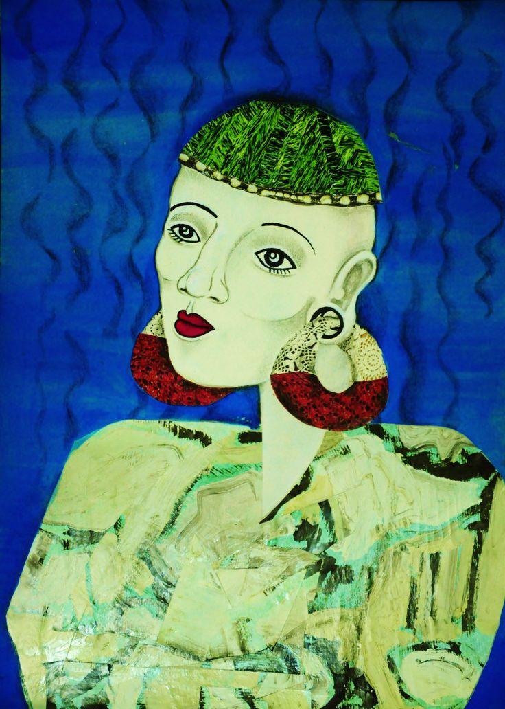 Manaka Brasil  Tinta guache , recorte e colagem , lápis grafite . Inspired by #Manakahandmade