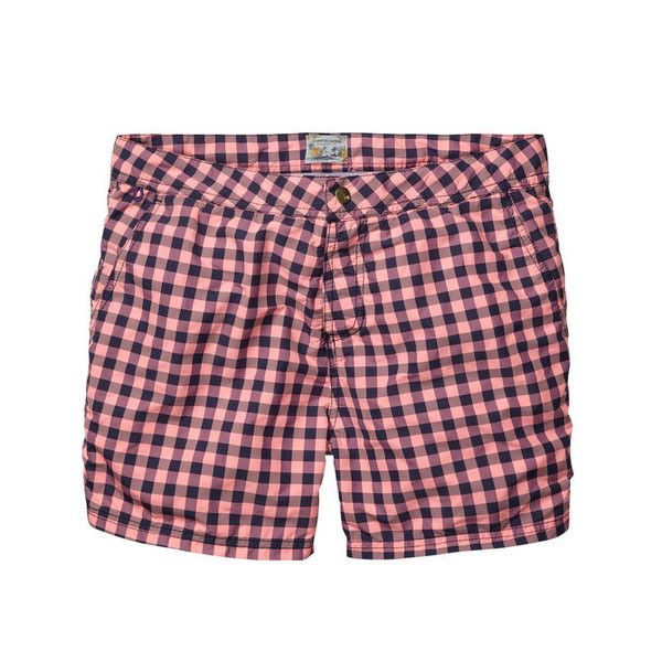 Scotch & Soda Pink Block Check Swim Short | The Pepin Shop for carefully chosen design, fashion, furniture and wall decor products