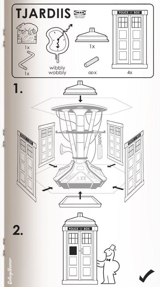 Ikea's TARDIS instructions.: Ikea Instructions, The Tardis, Stars War, Scifi, Doctors Who, Ikea Manual, Ikea Tjardii, Ikea Tardis, Sci Fi