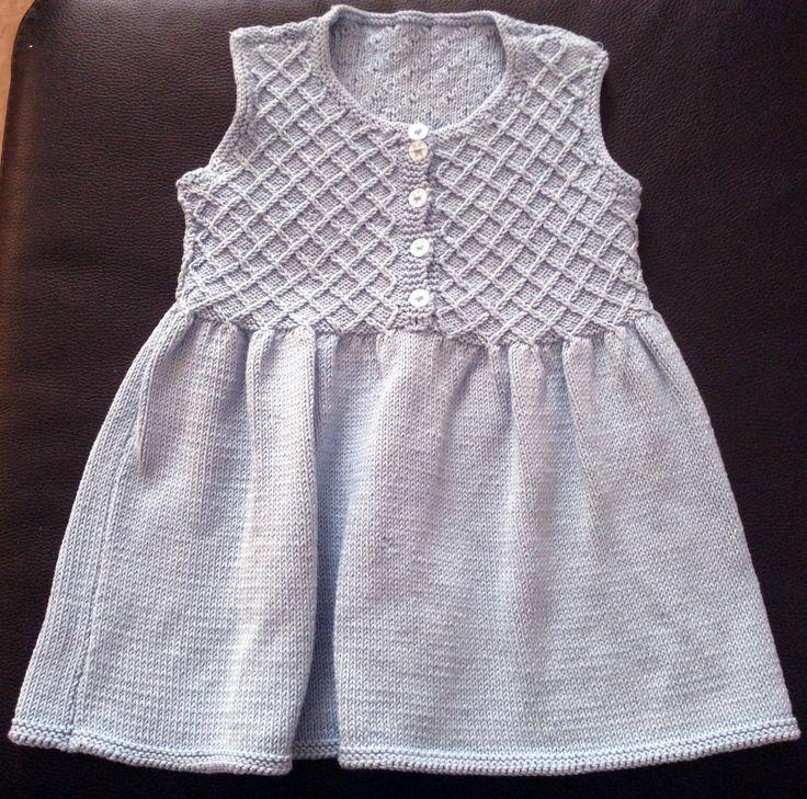 Cotton knitted dress, Debbie Bliss pattern