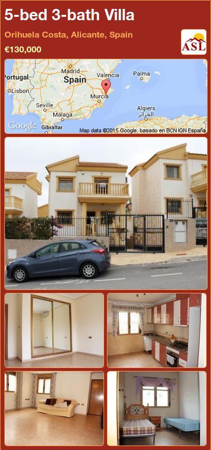 5-bed 3-bath Villa in Orihuela Costa, Alicante, Spain ►€130,000 #PropertyForSaleInSpain