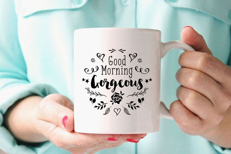 Good morning gorgeous! Because you ARE gorgeous! Brighten up your morning with trendy designs in ceramic mugs. What a great way to welcome your bridal party in the morning of the wedding? Contact us f