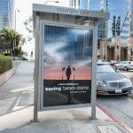 "Movie posters for a spoof entitled ""Saving Barack Obama"" have hit Los Angeles ahead of the president's visit the city.    The posters, which feature President Obama walking into the horizon betw"