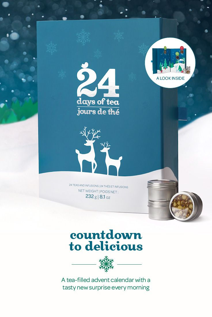 This magical box delivers a delicious new surprise every day. Behind each door hides a single serving of tea, selected from over 150 fabulous blends. No peeking! The surprise is worth it.