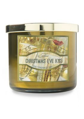 Carolina Candle Christmas Eve Kiss 3-Wick Metallic Candle - Gold - 14.5 Ounces