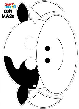cow mask pattern - Google Search