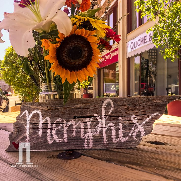 Memphis, Tennessee Flag on Reclaimed Barn Wood