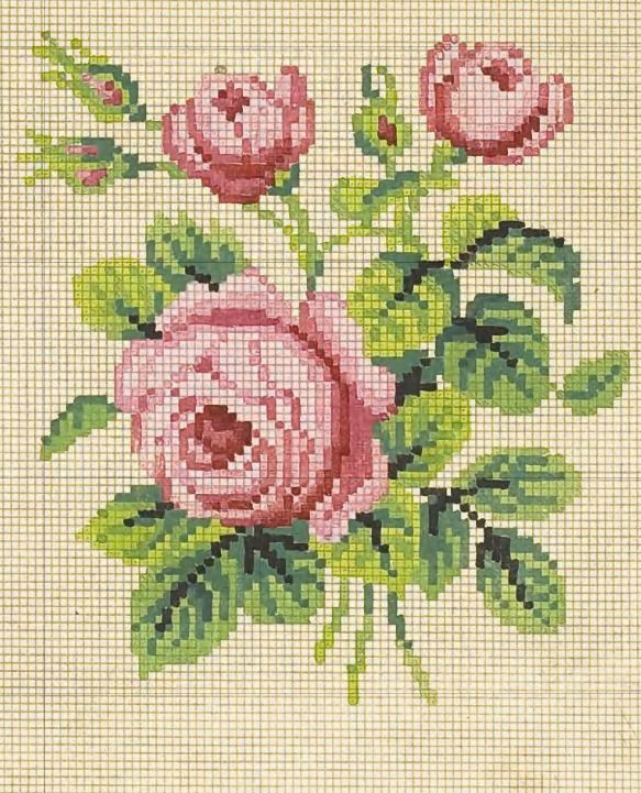 Veličanstven starinski motiv ruža.