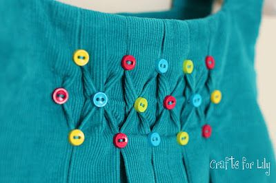 smocked with buttons =)