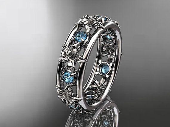 14kt white gold diamond leaf  wedding ring,engagement ring, wedding band. ADLR160 nature inspired jewelry