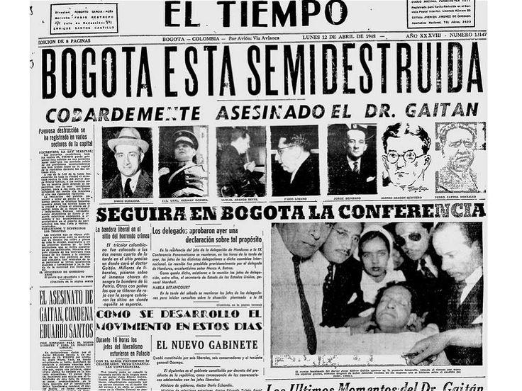 El asesinato del caudillo liberal Jorge Eliécer Gaitán, el 9 de abril de 1948…
