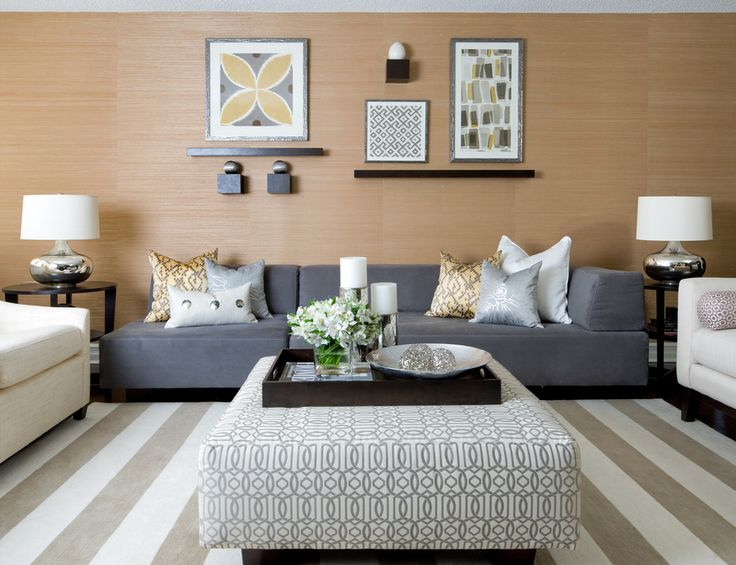 Magnificent Oversized Ottoman In Living Room Contemporary With Coordinating  Fabrics Next To Ottoman As Coffee Table