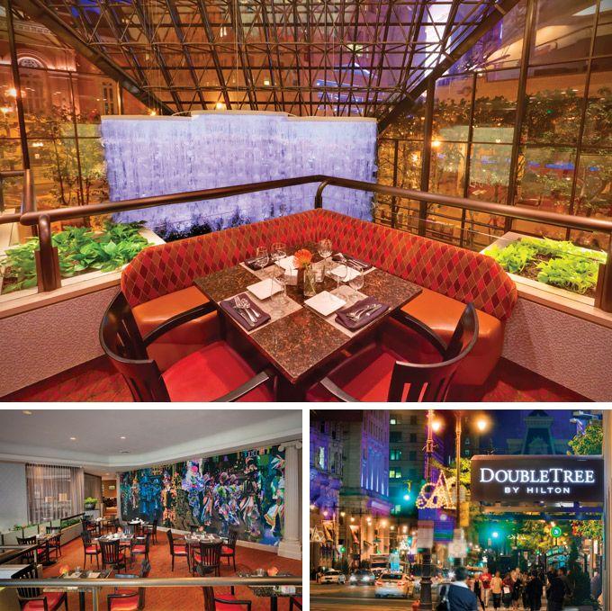 Balcony Restaurant At The Doubletree Hotel In Philadelphia