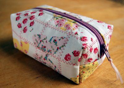 quilted zippered pouch