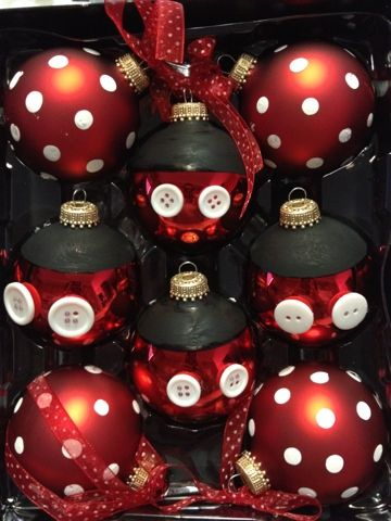 easy diy mickey and minnie mouse ornaments - Mickey And Minnie Christmas Decorations