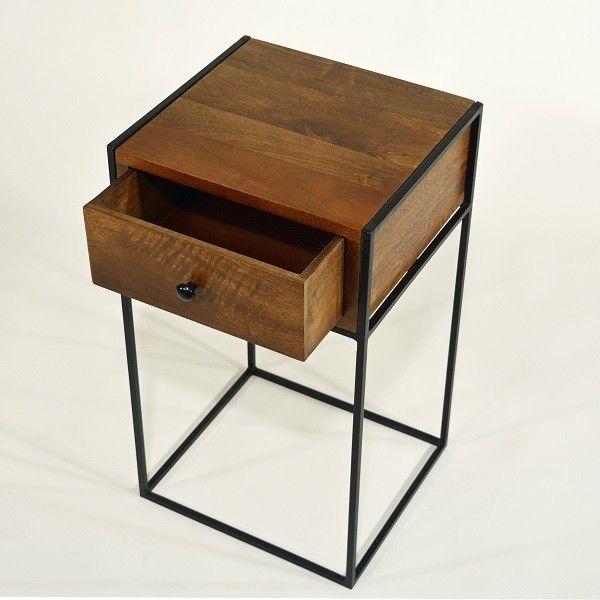Nachttisch Holz Vintage