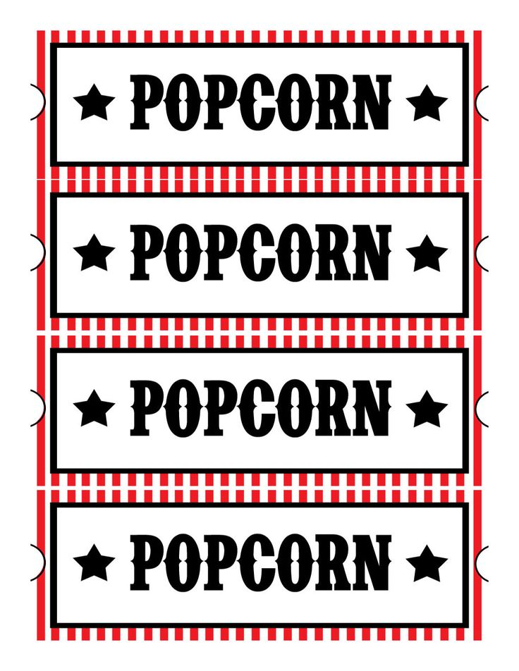 39 best popcorn ideas images on pinterest popcorn science fair sweet daisy designs free printables home movie theatre night pronofoot35fo Gallery