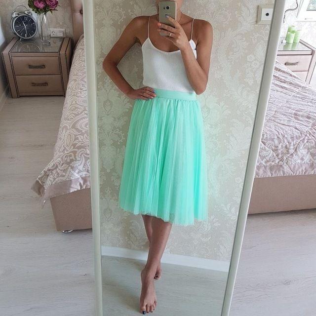 Мятная тюлевая юбка с Алиэкспресс - http://aliotzyvy.ru/myatnaya-tyulevaya-yubka-s-aliekspress/