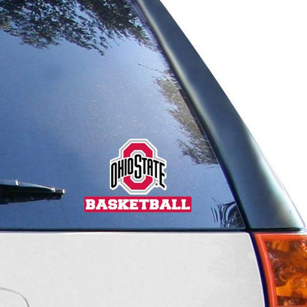 Ohio State Buckeyes WinCraft Buckeyes Basketball 4 x 5 Perfect Cut Decal