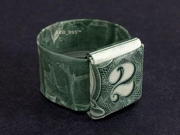 2 bill origami ring