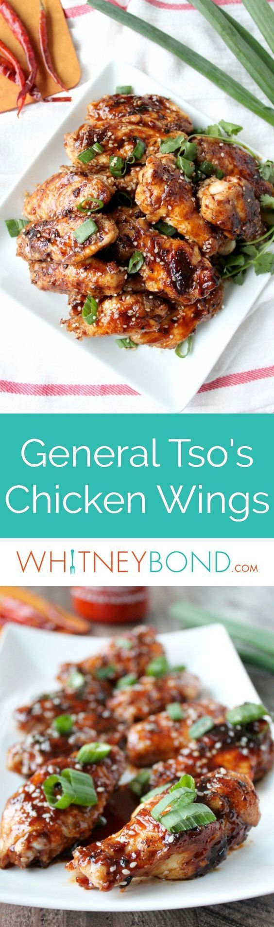 General Tso's Chicken Wings are a delicious twist on the Chinese favorite, they're the perfect appetizer for game day, grilling out or as a party appetizer!