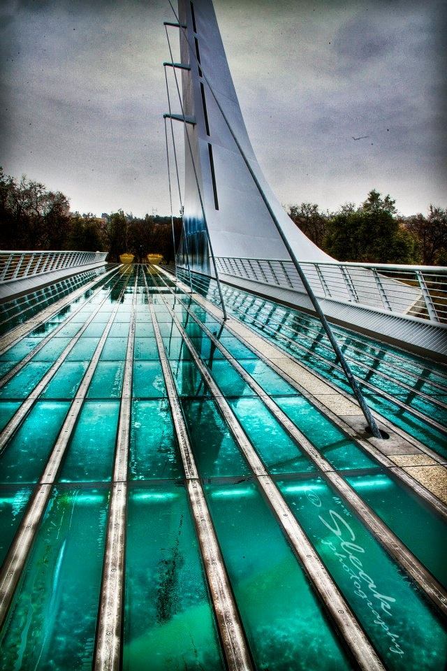 Sundial Bridge, Redding, CA, right next to Turtle Bay. As a kid we'd come up and visit my great aunt and come here every summer