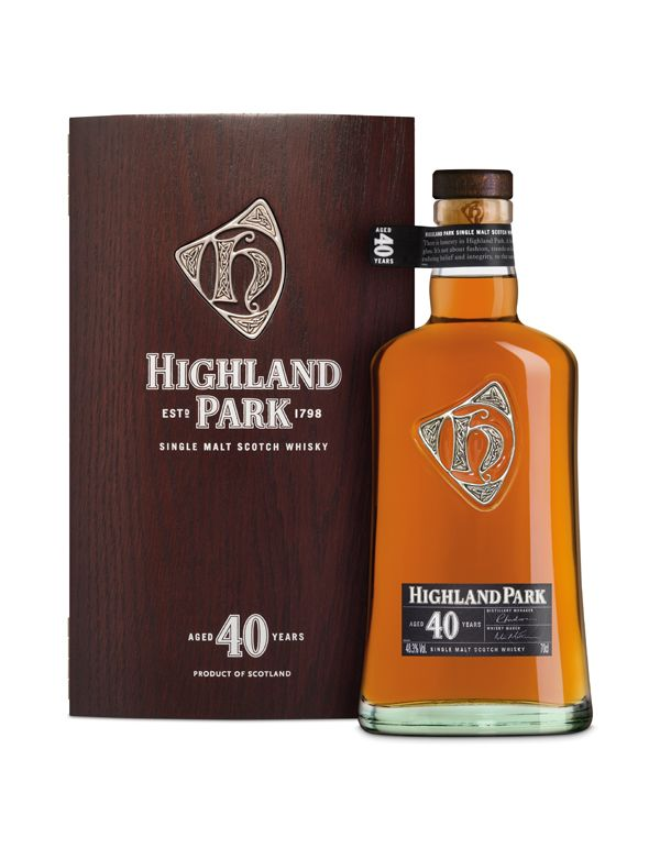 Highland Park 40 year old single malt whisky available from Whisky Please.