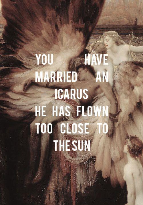 "raskolnikcv: "" ""Burn, Hamilton // The Lament for Icarus, H. J. Draper "" """