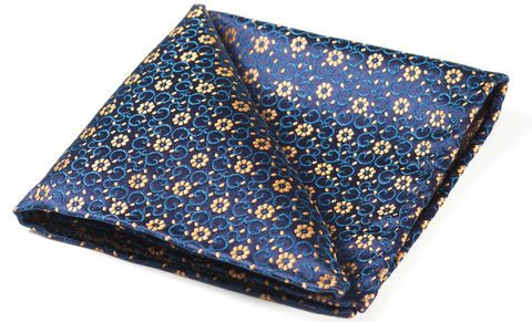 LEANDER Woven Silk Pocket Square   #menswear #pocketsquare #pocketsquares #silksquare #silkhandkerchief #handkerchief #menshandkerchief #silkhank #hanks #hankies #hanky #wedding #style #mens #fashion #accessories #dapper #dandy #finishingtouch #finishing #touches #sartorial #welldressed #chap #distinguishedgentleman #gentleman #blue #yellow #floral