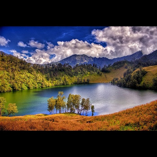 Ranu kumbolo, Mount Semeru, East Java, Indonesia