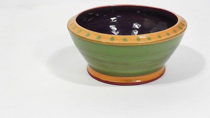 HANDMADE Small Bowl ANTIQUE POTTERY Studio ART Signed DCH Southwestern Decor