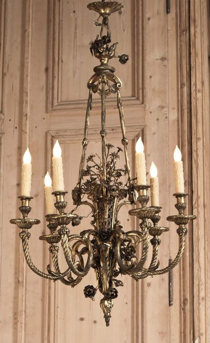 Antique Louis XVI Bronze Chandelier | Antique Chandeliers | Inessa Stewart's Antiques