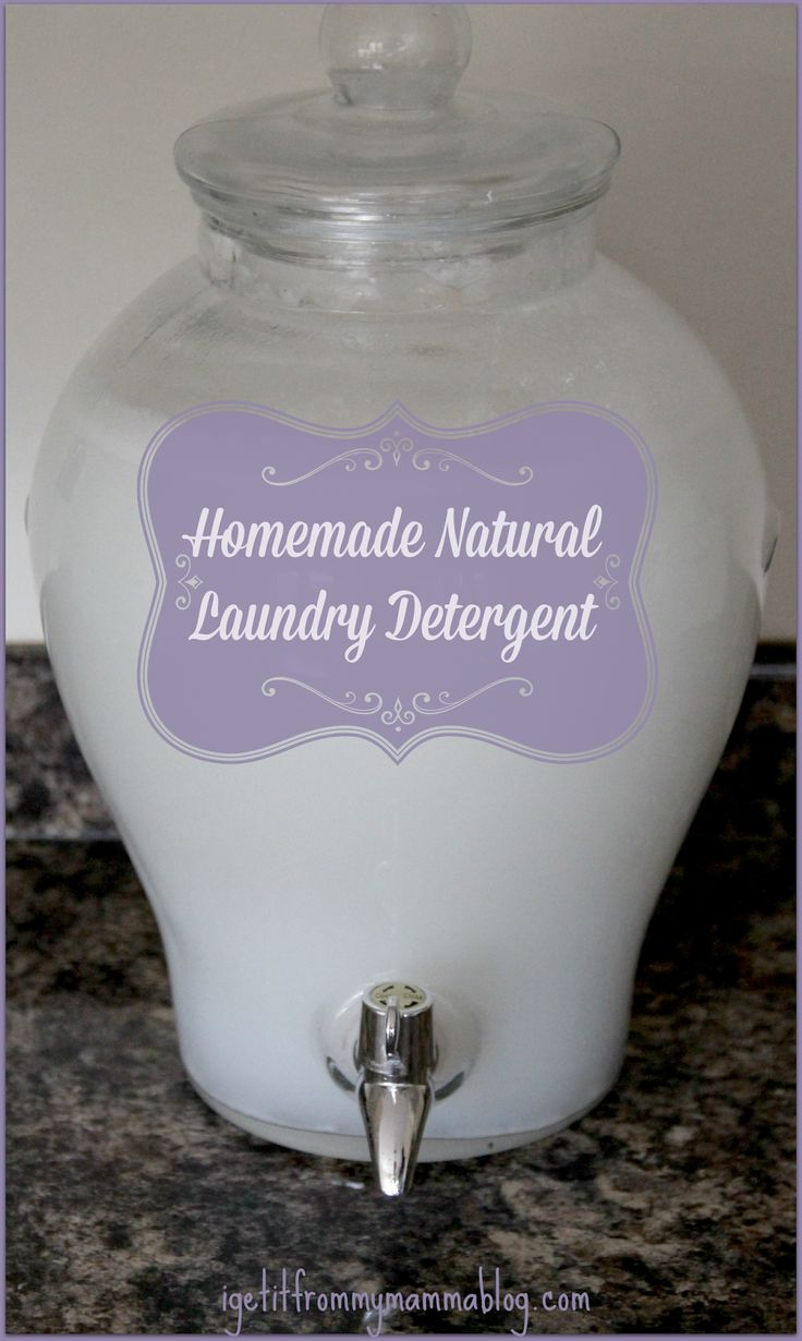 DIY Natural Laundry Detergent (Borax Free!). Safe for baby clothes and linens.