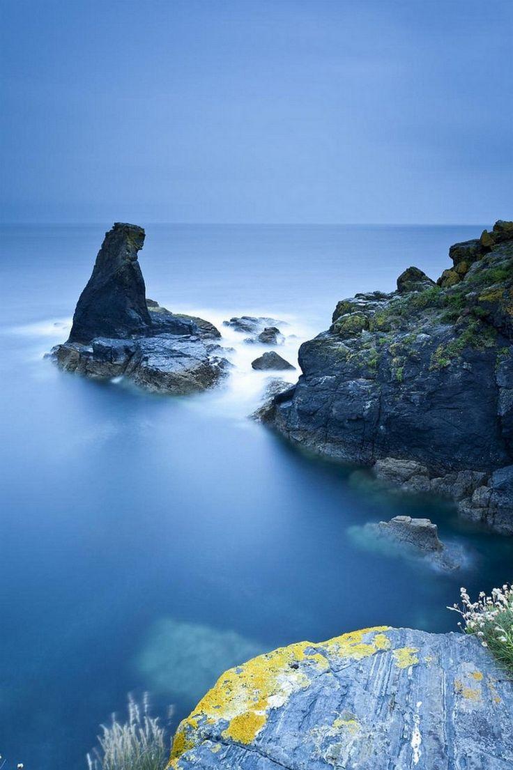 HD Stone Cloud Sunset Ocean Sea Beach Desktop Background Images