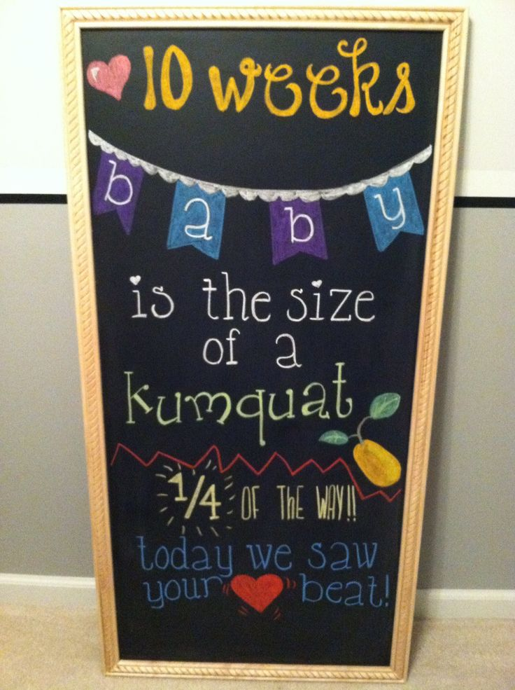 10 week pregnancy chalkboard