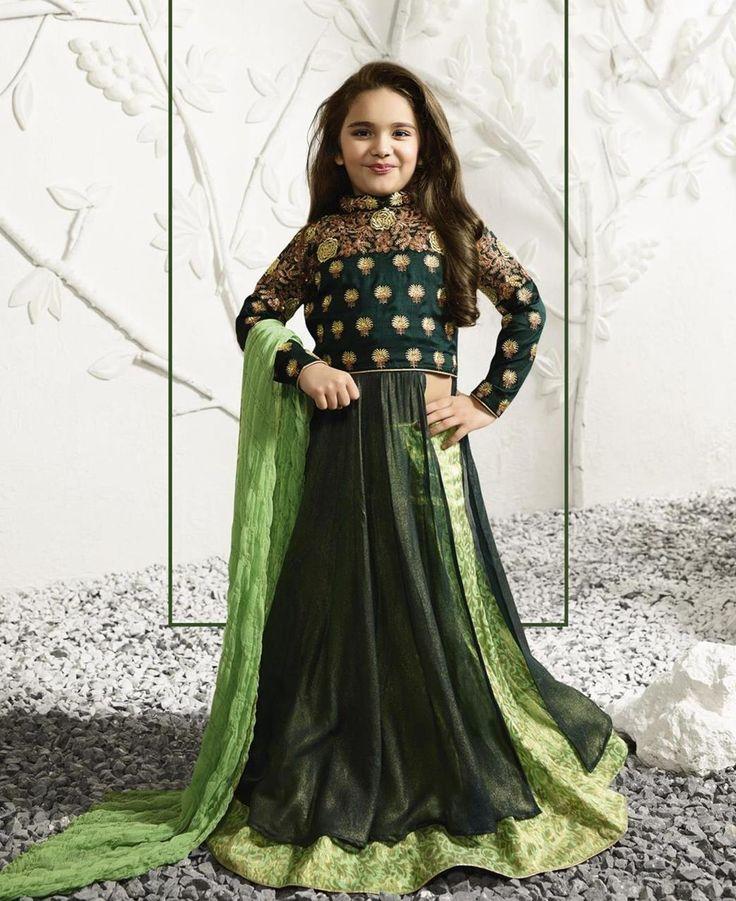 #hey @a1designerwear . Item code: APRL9289 . Buy Gorgeous Forest Green #kidswear #salwar #kameez #onlineshopping with #worldwideshipping at  https://www.a1designerwear.com/gorgeous-forest-green-kids-salwar-kameez   . #a1designerwear #a1designerwear . #instashop #worldwide #thankyou