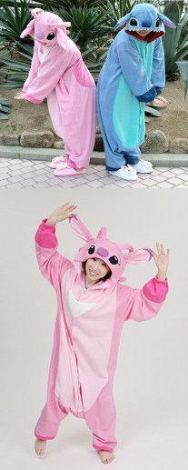 stitch pajamas, gift ideas, Christmas gift, Birthday Gift, Stitch Couple Pajamas, Blue and Pink Stitch Pajamas