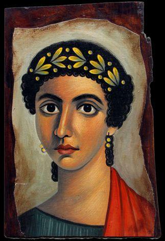 Πορτρέτο Φαγιούμ (Ειρήνη) ακρυλικό σε καμβά και ξύλο
