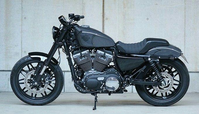 Custom Harley-Davidson XL1200CX Roadster® by Tramp Cycles | Rear set foot controls | Titanium exhaust system | bates style headlight | Piggyback aftermarket shock absorbers | Japan | via ElCorraMotors.blogspot.com