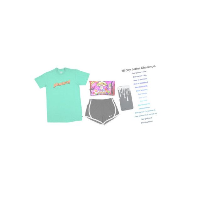 """""""dear pizza man,"""" by red-rose-petals ❤ liked on Polyvore featuring NIKE and HUF"""