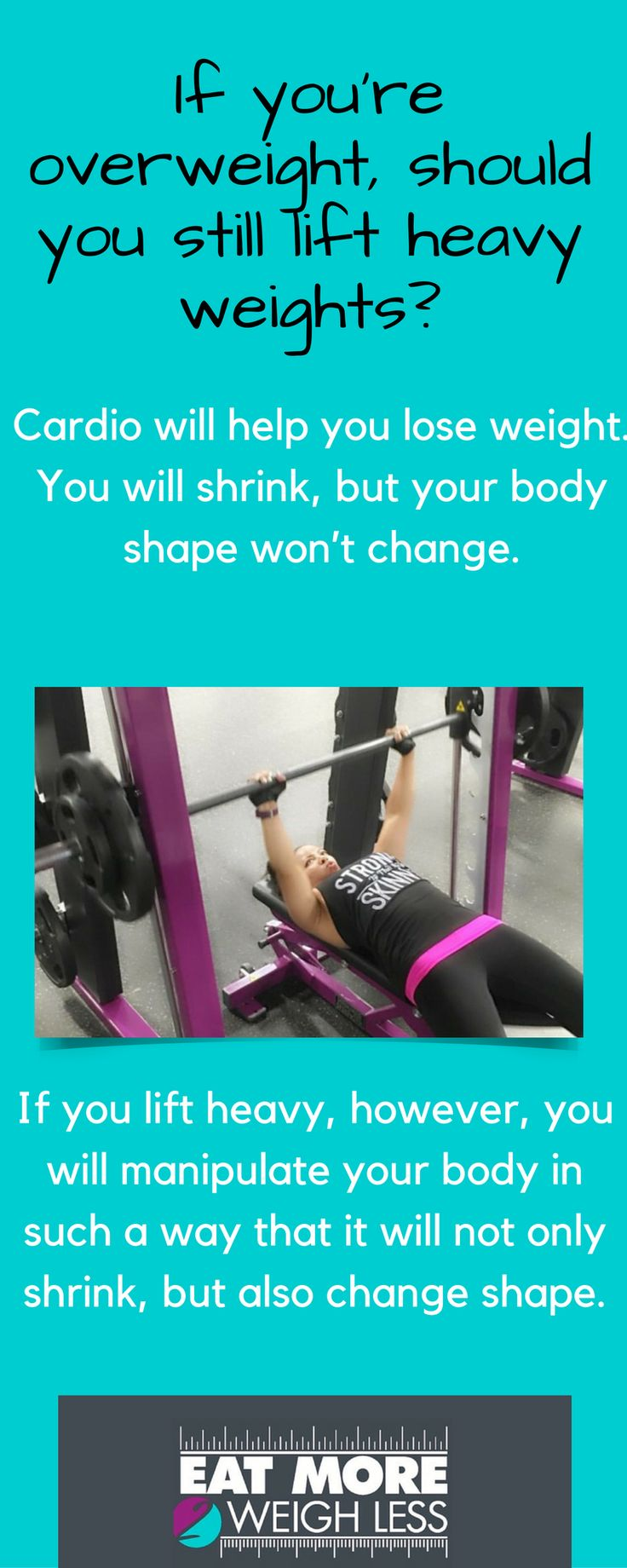"""Don't be intimidated by the thought of lifting """"heavy."""" Heavy is relative, but you definitely want to start lifting as soon as possible. #strengthtraining #lifting #eatmore2weighless"""