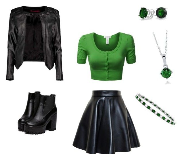 """""""Casual Shego (Kim Possible)"""" by cassiebaker-1 on Polyvore featuring Boohoo, MSGM, J.TOMSON, Bling Jewelry, BERRICLE, cosplay, kimpossible and shego"""