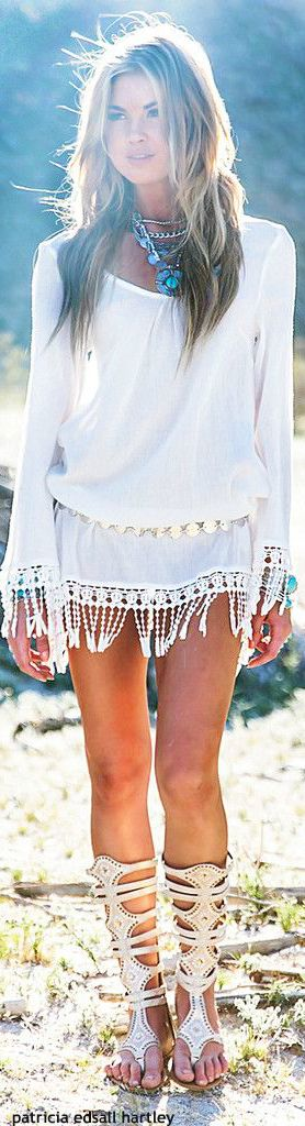 ☮ Angelic Bohemian Style ☮ Glowing White Perfection