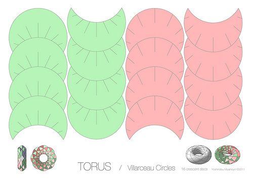 Torus / Villarceau Circles | Template for Torus 16 crescent … | Flickr